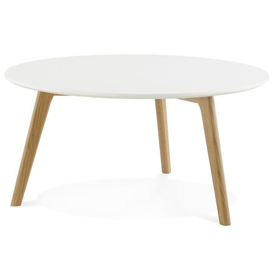 Table Basse De Salon Ronde Kofy Style Scandinave Table Basse