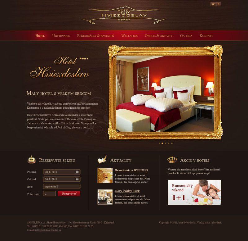 Web Dizajn Pre Hotel Hviezdoslav V Kezmarku Web Design Web Design Inspiration Web Design User Interface