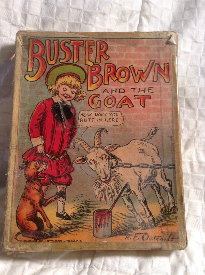 Antique Buster Brown And The Goat Card Game Card Games Old