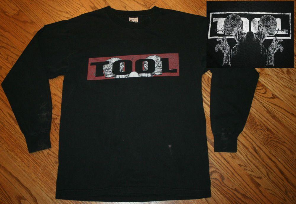 607c2849 TOOL Vintage T Shirt 90's Aenima ALT METAL BAND black long-sleeve Needle  Alien L #Murina #GraphicTee