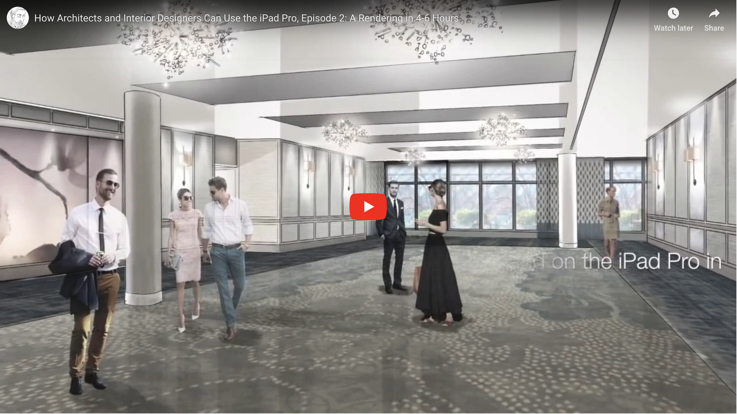 How Architects And Interior Designers Can Use The Ipad Pro Episode 2 A Rendering In 4 6 Hours Akers Rendering Interior Rendering Commercial Architecture Architect