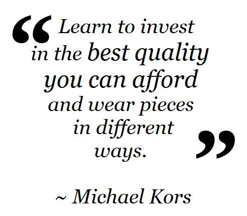 #WednesdayWisdom - Invest in What You Can Afford