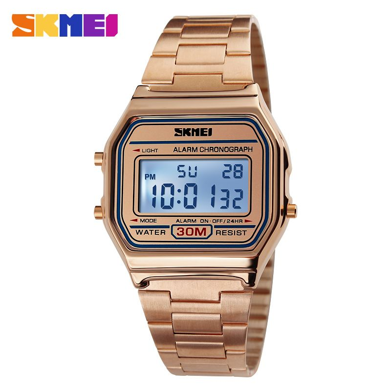 893ff3b695a Barato Homens SKMEI Quente LED Relógio Digital Relógios Desportivos Relojes  Relogio masculino dos homens de Aço Inoxidável Militar relógios de Pulso À  Prova ...