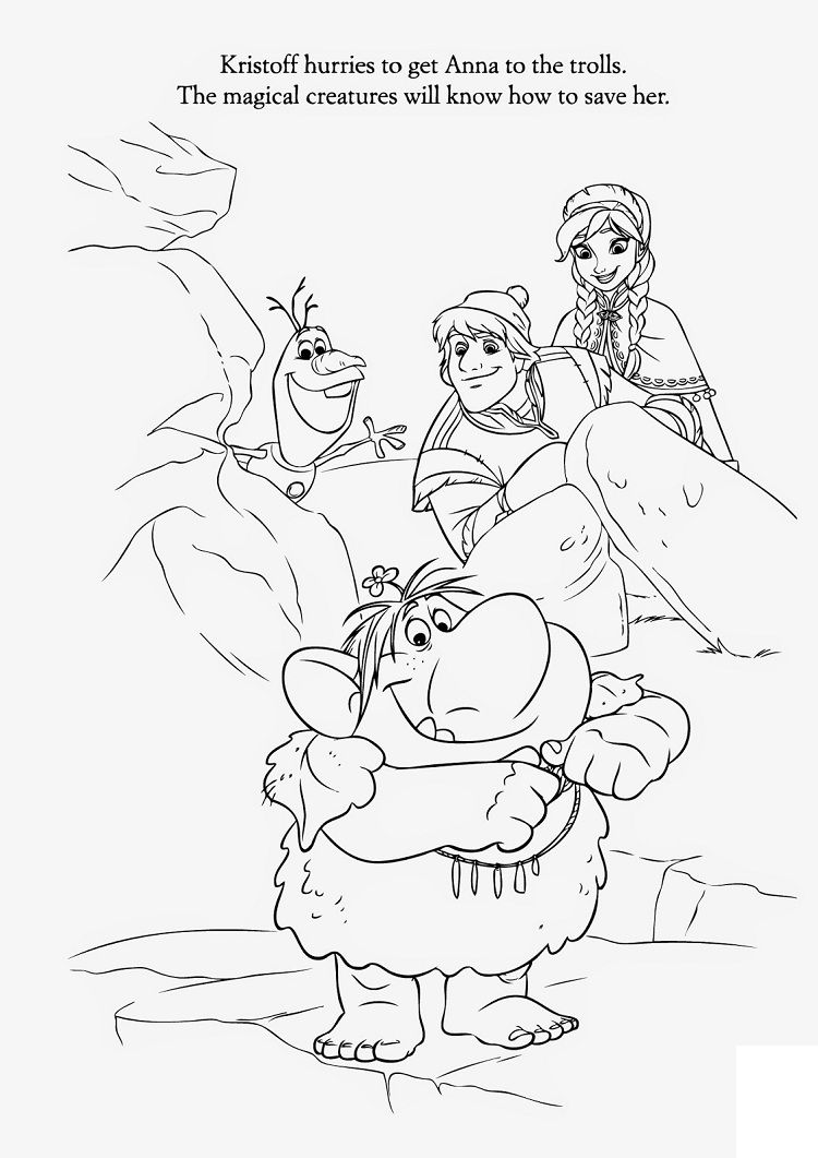 frozen rock trolls coloring pages | Coloring Pages For ...