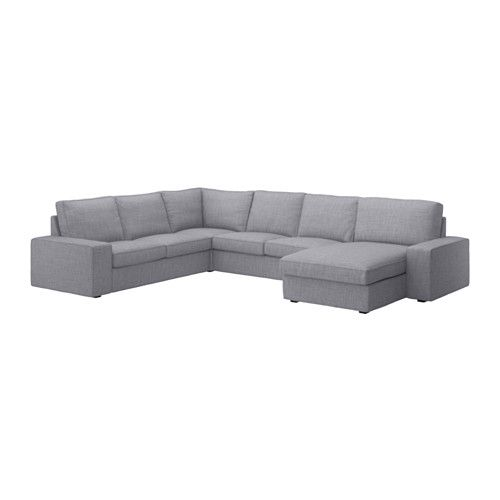 Kivik Sectional 5 Seat Corner Borred With Chaise Borred Gray