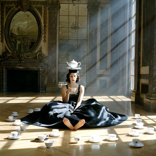 i would like to join her. with tea...in that old castle room, just for a visit