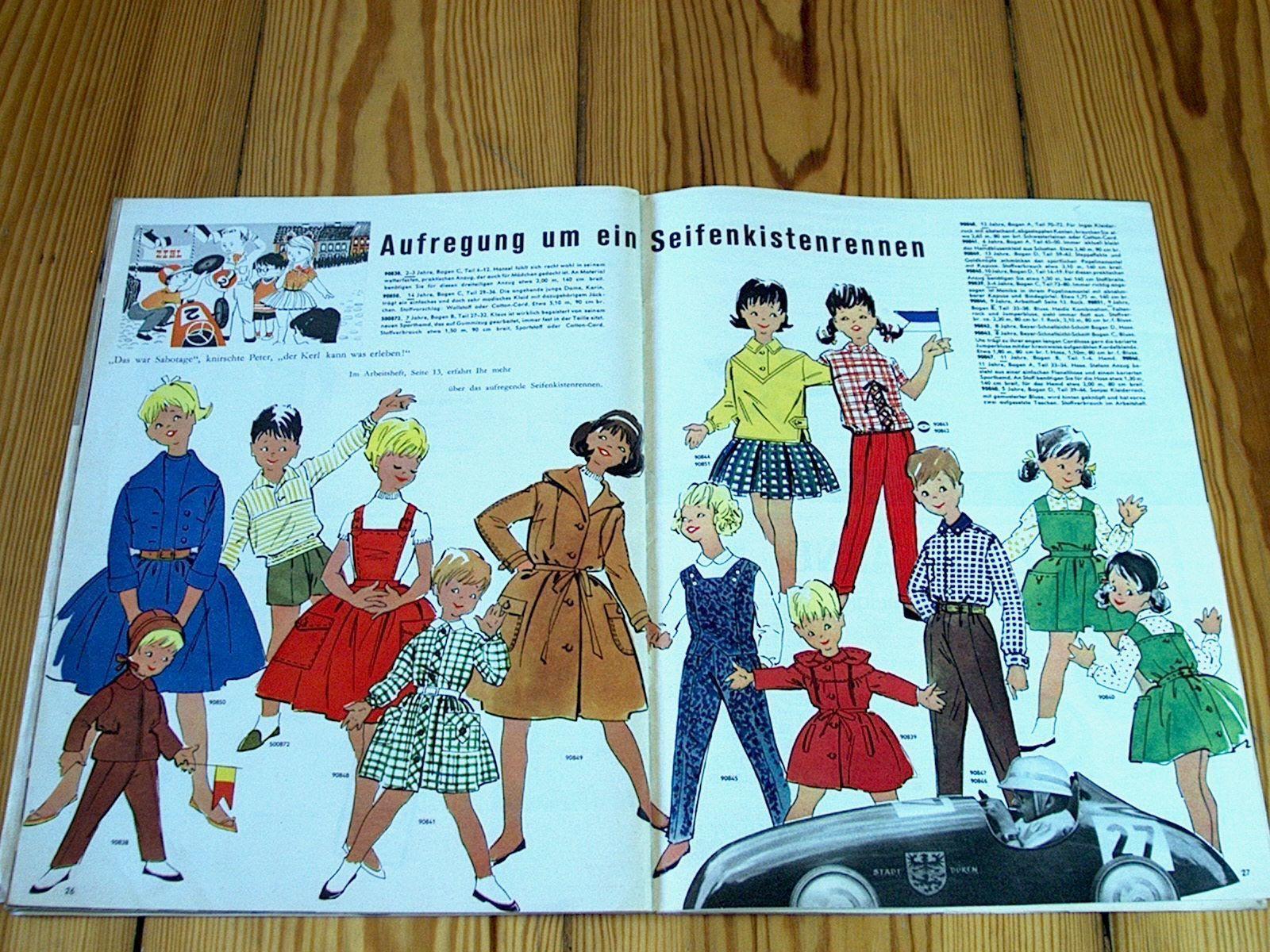 Modezeitschrift BEYER MODE 8/1959 - 2 Schnittmuster-Bg 50er Jahre ...