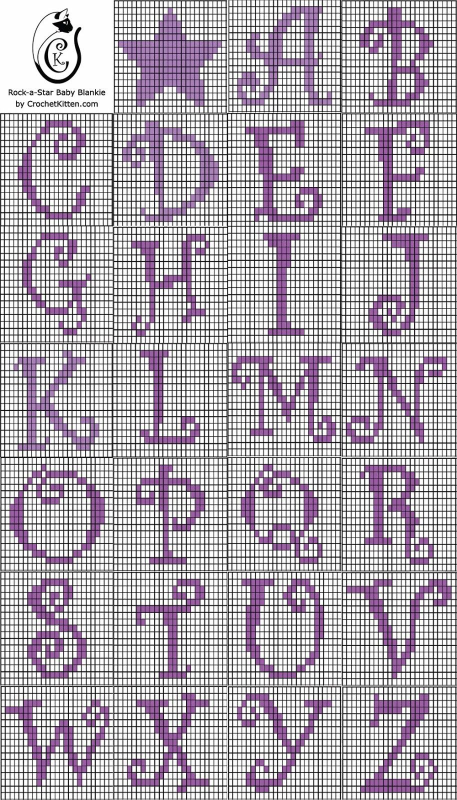 Alphabet Chart For Tapestry Crochet Crochet Stitch Patterns