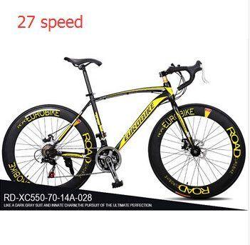 Eurobike 21 27 Speed 700c Road Racing Bike Carbon Steel Frame