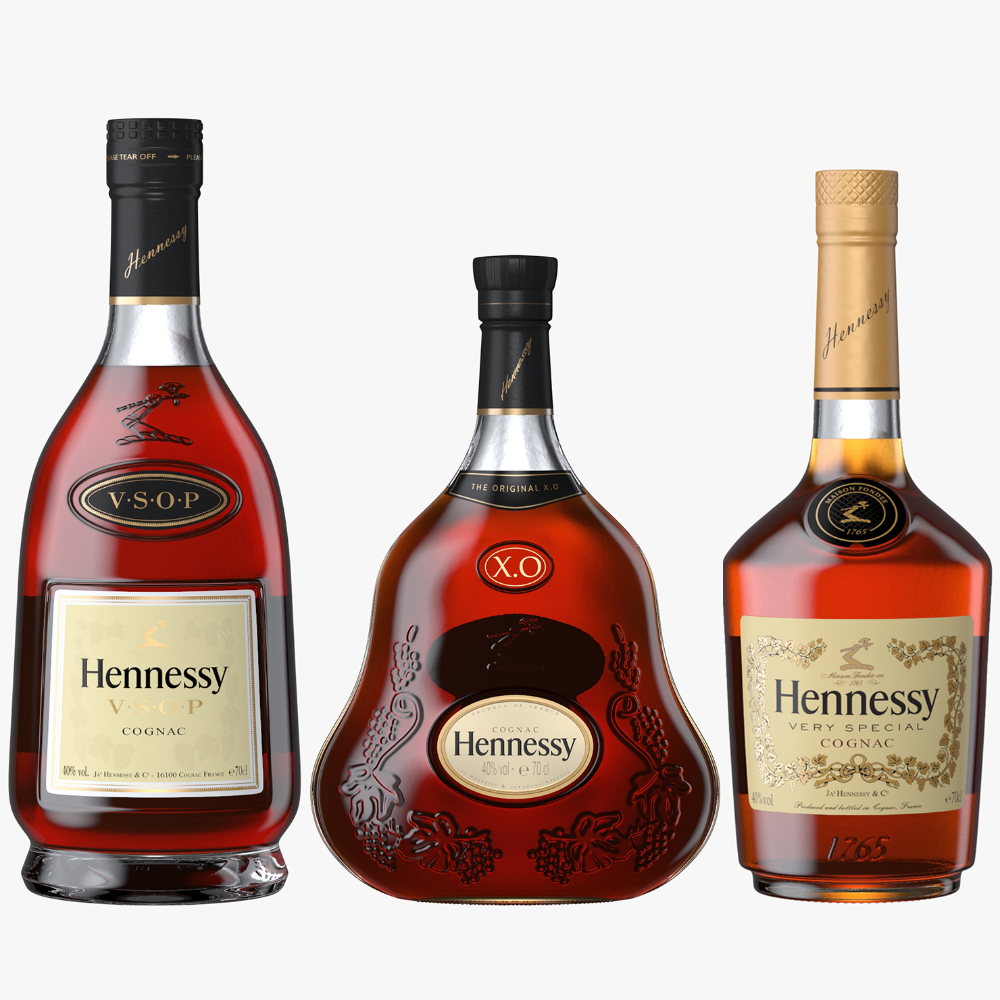 3d Hennessy Cognac Bottles Vs Bottle Hennessy Hennessy Very Special Cognac