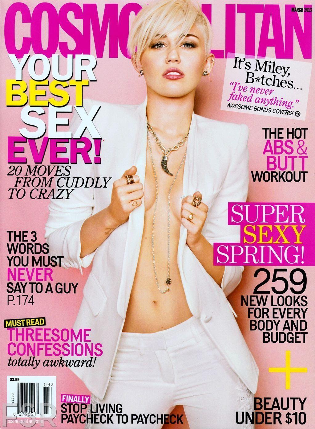 Miley Cyrus - Cosmopolitan Magazine Cover [United States] (March 2013)