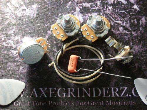 Basic Wiring Kit For J Bass US Spec Pots .022uf Sprague Orange Drop Capacitor