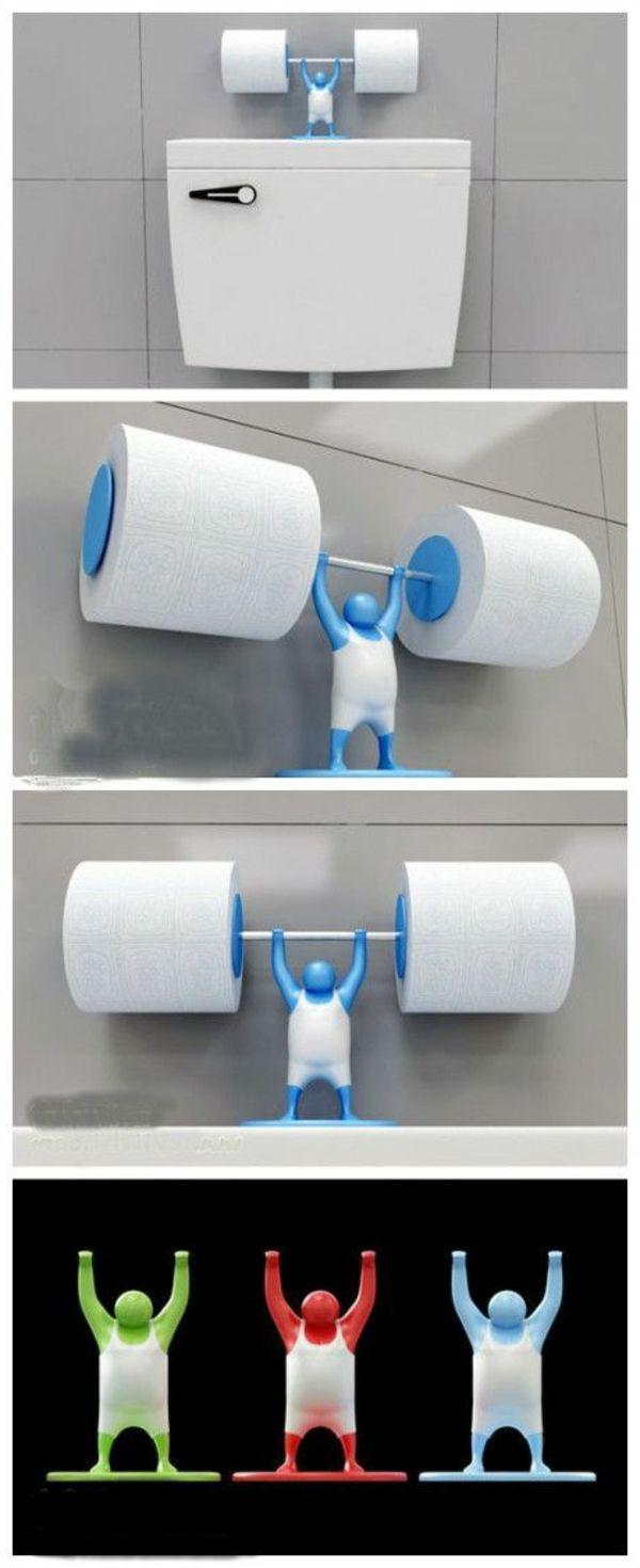 accessoires de salle de bain, porte papier de toilettes original
