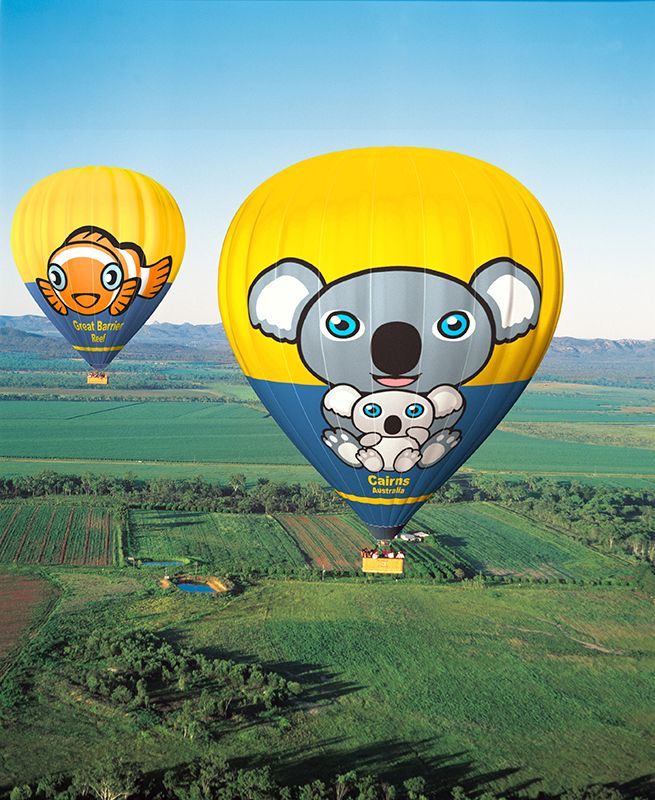 Float over the picturesque Atherton Tablelands Hot air