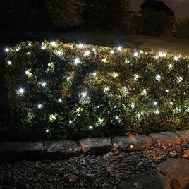 Solar Net Lights 1 3x1m 100 Led White Fairy Lights Garden Solar Fairy Lights Led Christmas Lights