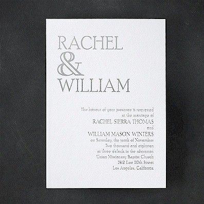 Ampersand Love Wedding Invitation