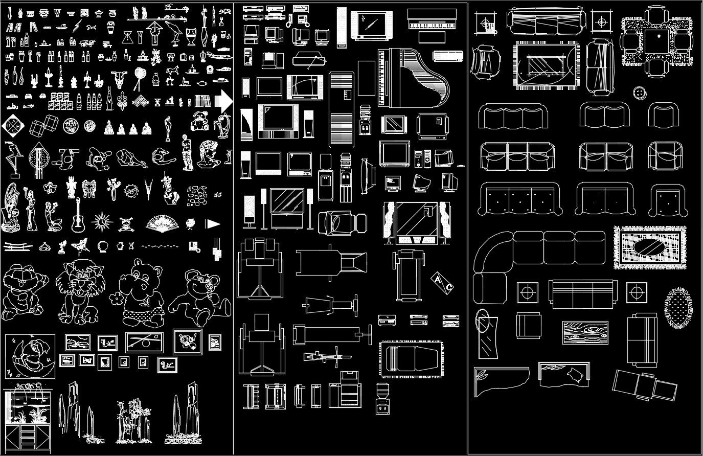 Pin on Interior Design 2D Blocks bundle