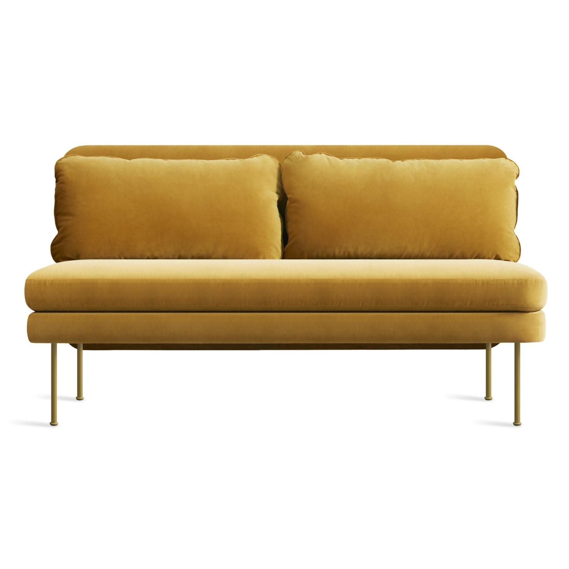 Bloke Armless Sofa in 2020 Armless sofa, Velvet sofa