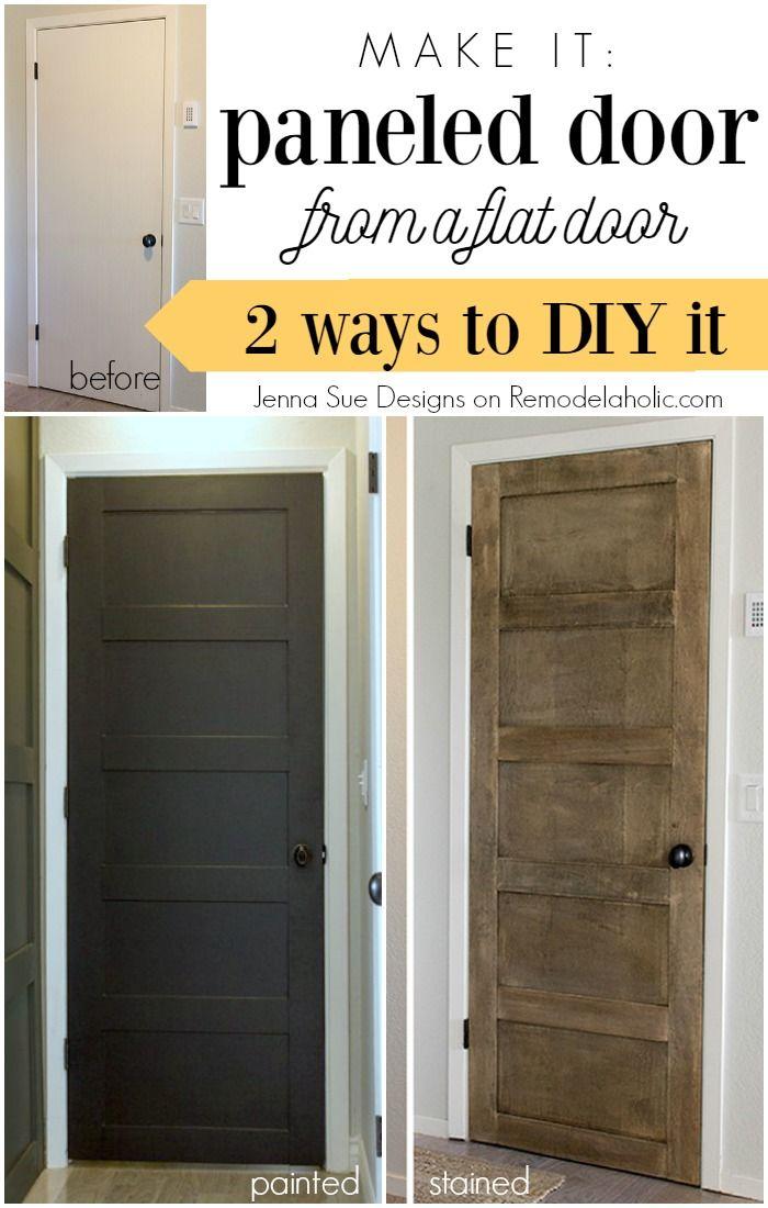 Update a plain hollow core door into a beautiful 5 panel door either painted or & 5 Panel Door from a Flat Hollow Core Door | Hollow core doors Pezcame.Com