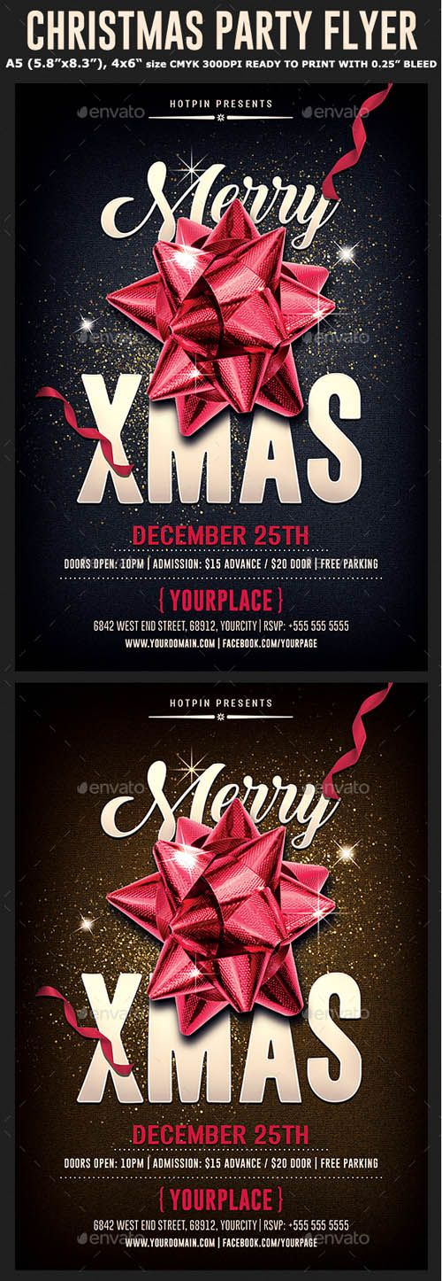 Download GraphicRiver Christmas Psd Party Flyer Template 20856742