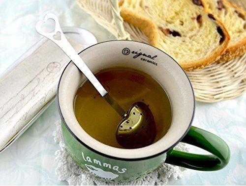 Amazon.com: Heart Tea Spoon Stainless Steel Tea Infuser Coffee Strainer Tea Filter Drinkware: Kitchen & Dining