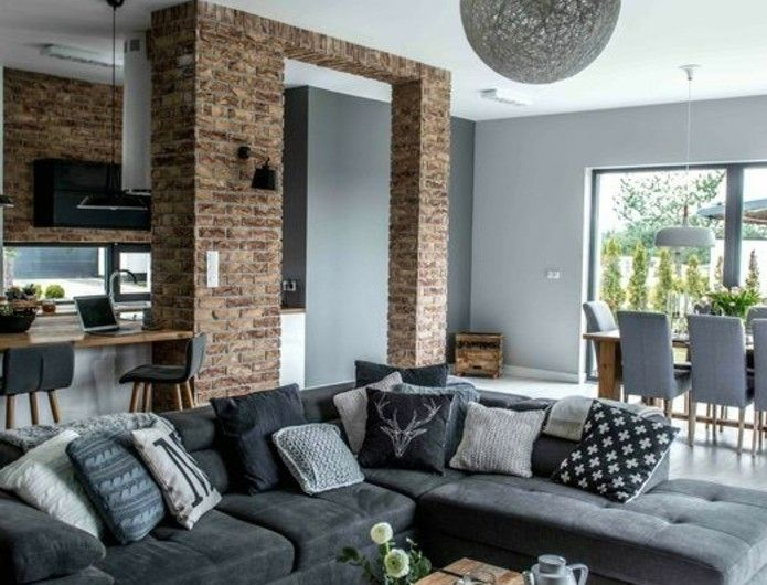 Déco salon gris - 88 super idées pleines de charme Living rooms