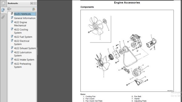 Isuzu Au 4le2 Bv 4le2 Series Diesel Engine Service Repair Workshop Manual In 2020 Repair Diesel Manual