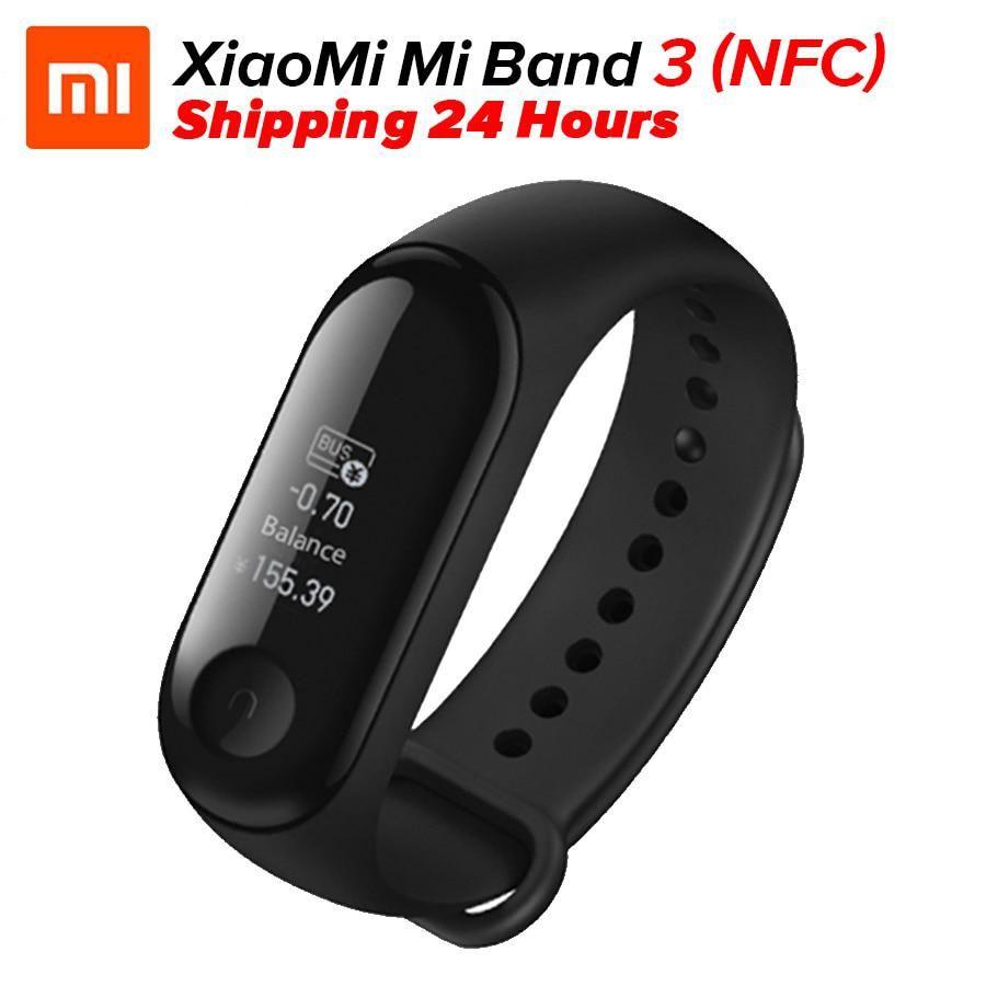 Nfc Version Xiaomi Mi Band 3 Nfc Smart Bracelet Wristband Miband 3 Fitness Tracker 0 78 Oled Display Touchpad Bluetooth 4 2 Smart Bracelet Smart Band Fitness Bracelet