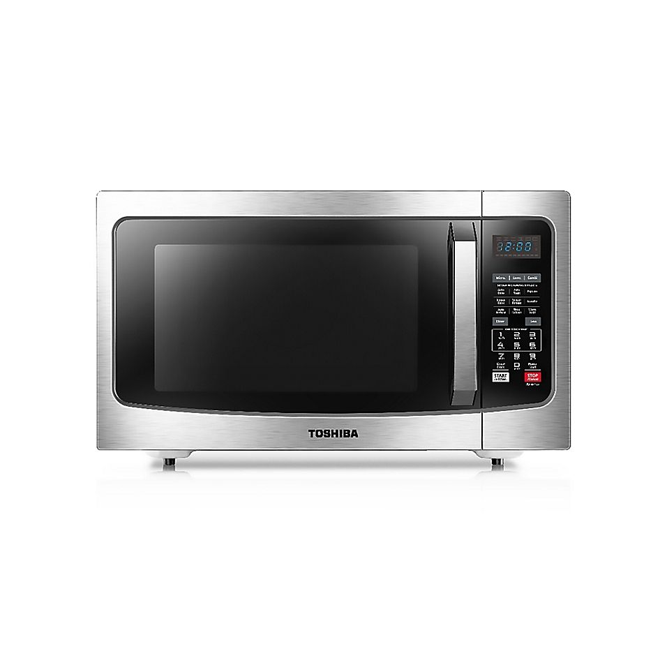 Toshiba 1 5 Cu Ft Convection Microwave Oven In Stainless Steel Microwave Convection Oven Convection Microwaves Microwave Oven