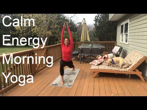 calm energy morning yoga 12 minutes  youtube  morning