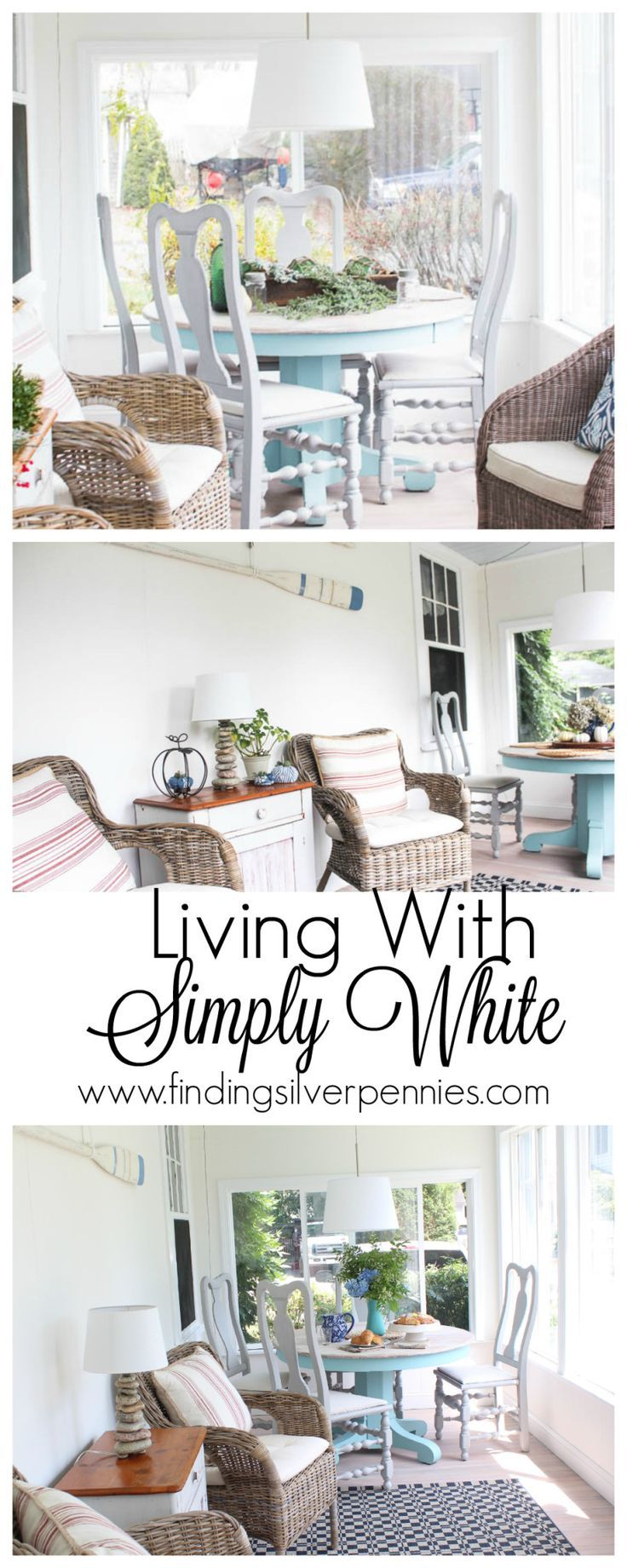 Living With Simply White Finding Silver Pennies