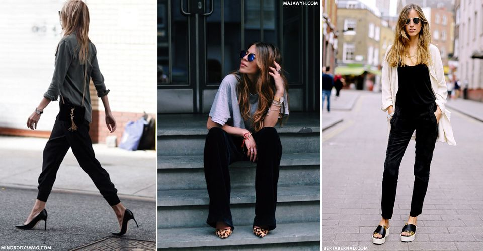what to wear with velvet joggers