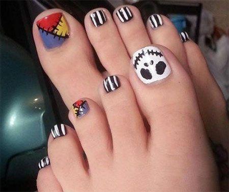 15 halloween toe nails art designs  ideas 2017