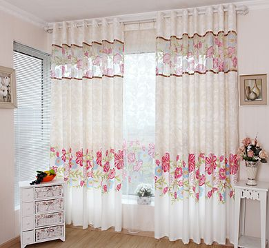 Home Curtain Decoration Rustic Flower Cloth Curtains For The Bedroom Windows Blinds