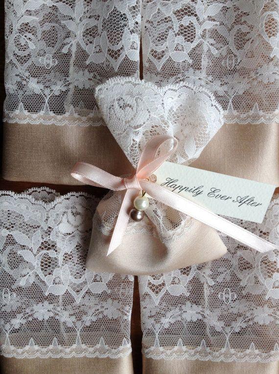 Lace Favor Bag Italian Wedding Favors Jewelry Pouch Baptism Jordan Almond Party Bags Vintage Bridal