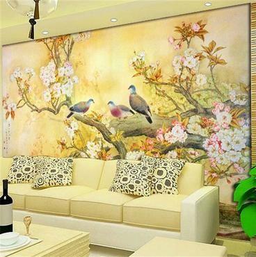 hermosos muro con cerezos