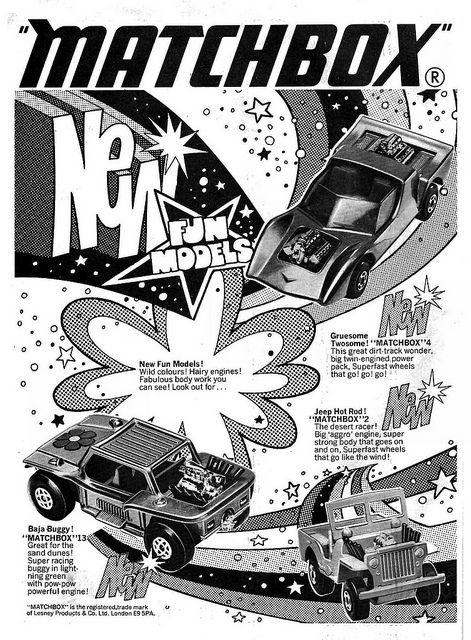 Matchbox New Fun Models Ad 1971 Retro toys, Matchbox