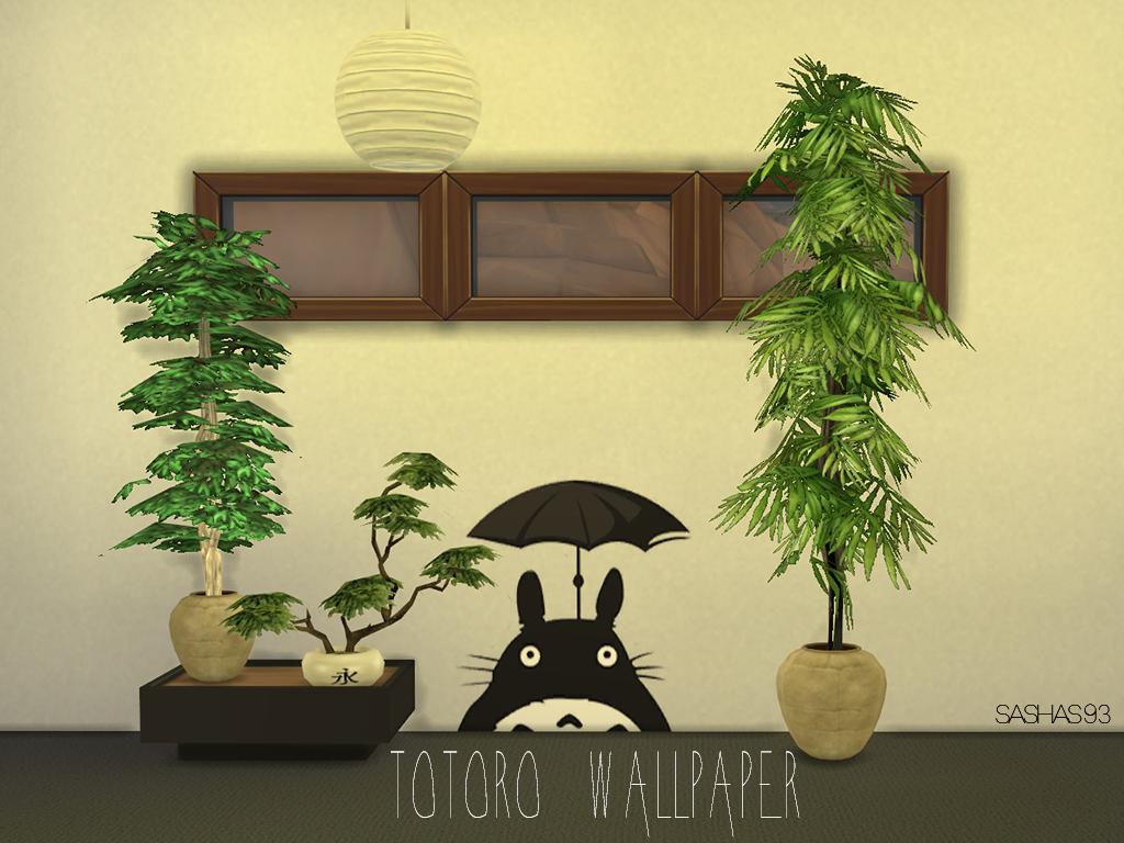 Totoro Wallpaper http://sims4customcontent.tumblr.com/post ...