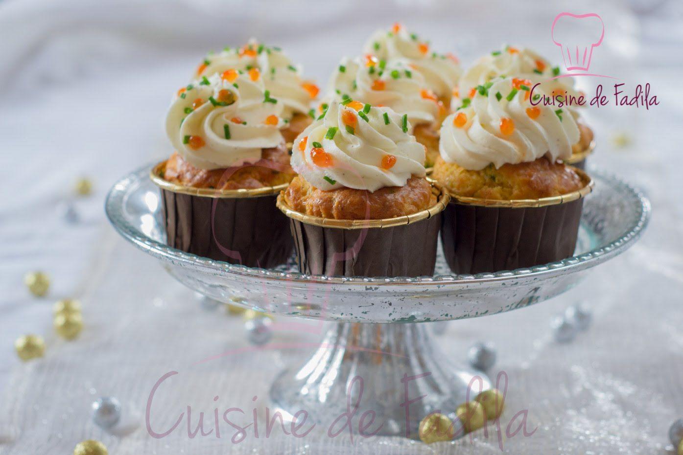 Cupcakes au saumon fumé كاب كيك بالسلمون