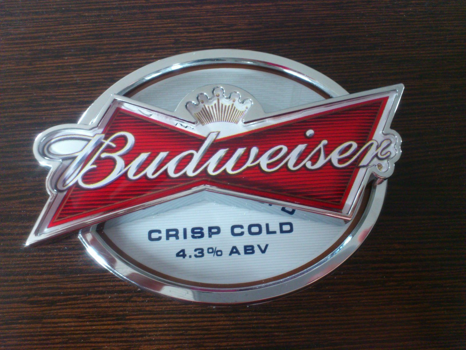 Budweiser 3d Shaped Lens Pod Based On Bow Tie Brand Mark For Illuminated T Bar Mounting Produced By Imi Cornelius Drinking Beer 3d Shape Budweiser