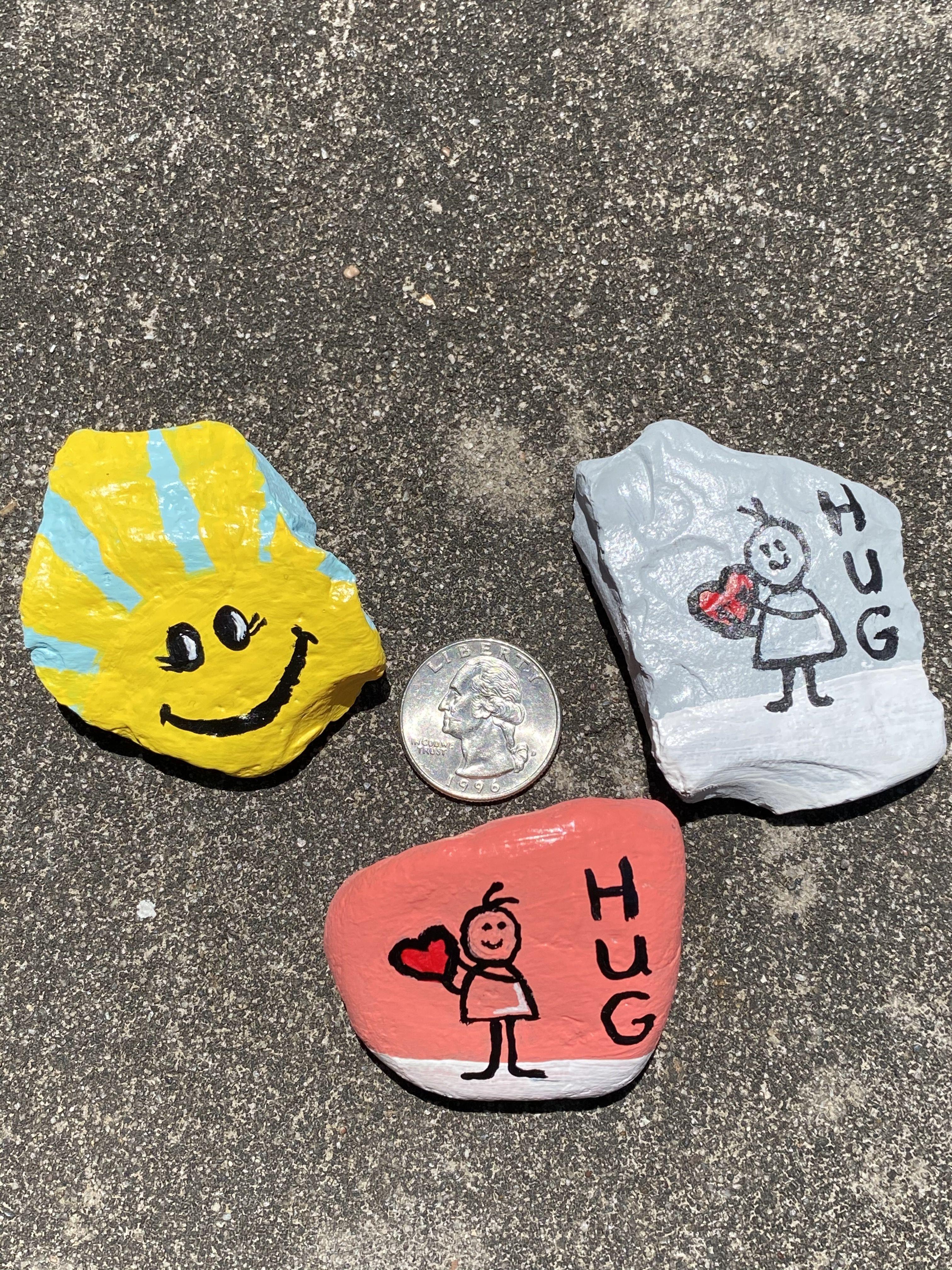 By: ️AR Humble Tx Rock hunt April 2020 in 2020 | Rock art ...