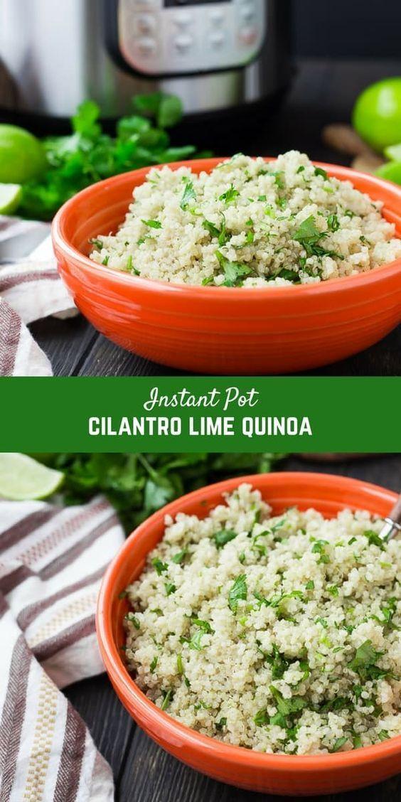 Instant Pot Quinoa | Plain and Cilantro Lime Recipes -  Instant Pot Quinoa is so quick and easy to