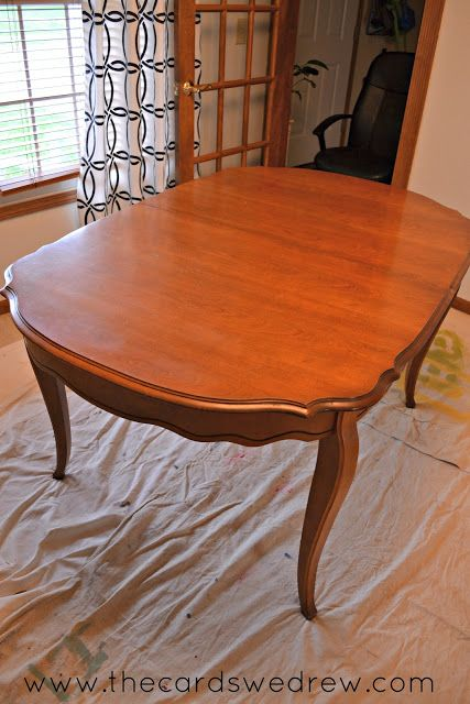 Chalk Paint Dining Room Table Upcycle Adventure Painted