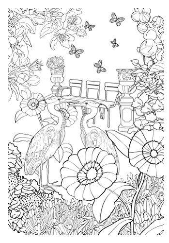 Jardim Encantado Livro De Colorir Antiestresse Volume 1 Bird