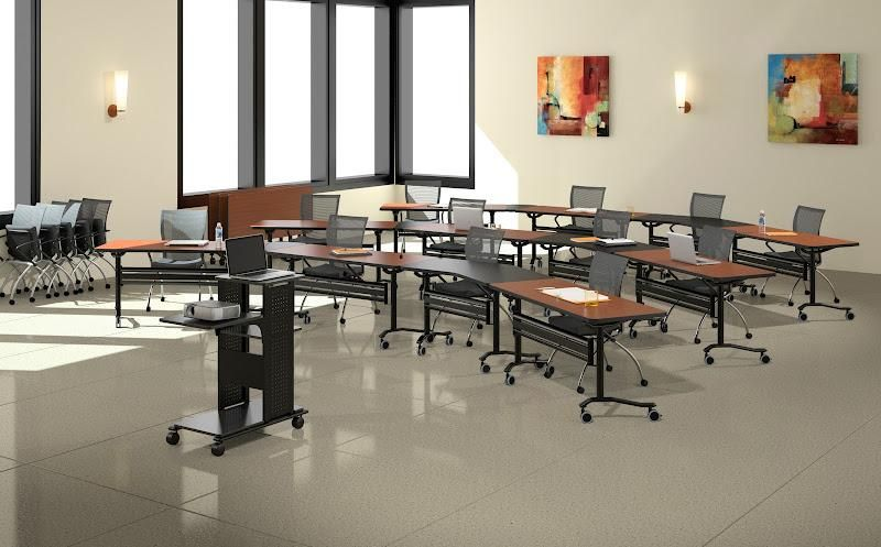 Bfw mobile training room tables for Room design zug
