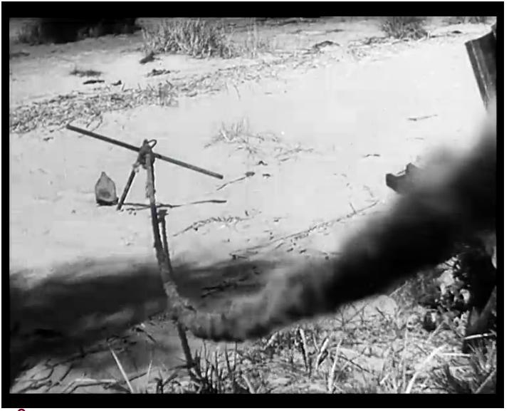 """Stillbild från """"Tåget"""""""