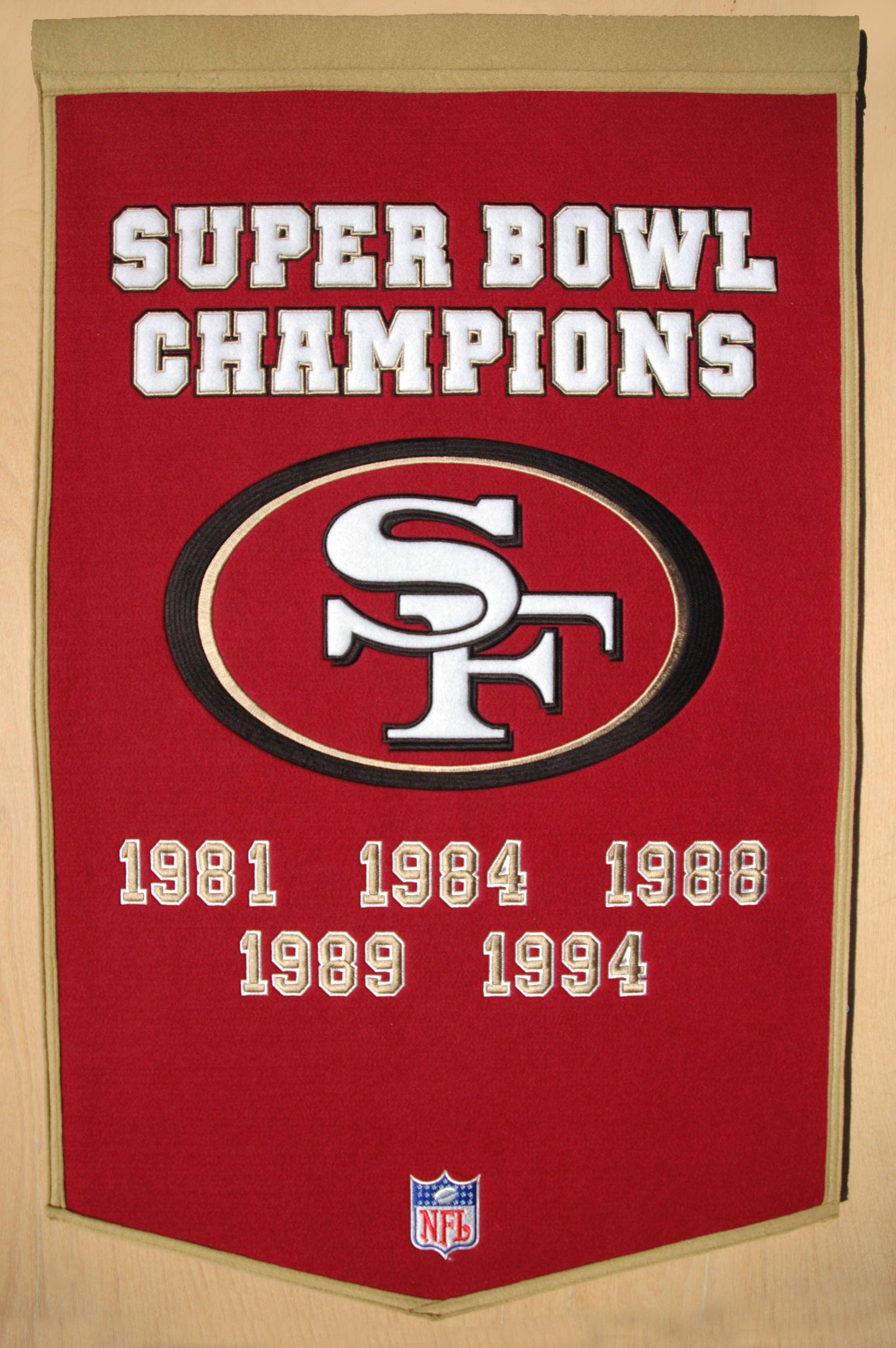 b92c6897f Super Bowl Champions 1981 1984 1988 1989 1994 Nfl San Francisco