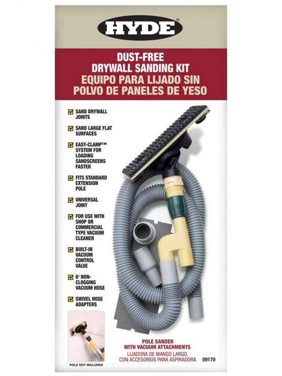 Hyde DustFree Vacuum Pole Sander Kit Vacuums, Dust free