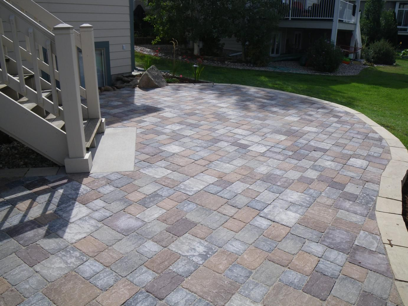 Pavers For Walkways Ideas Patios And Stamped Concrete