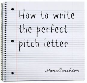 how to write a pitch letter for an article